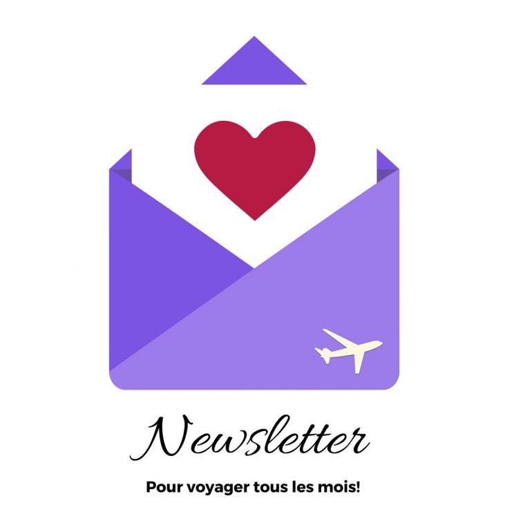 Inscrivez vous à notre Newsletter voyage!